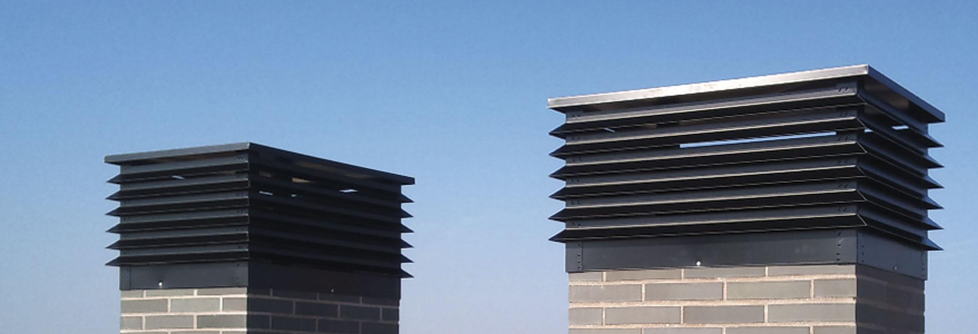 Fabricante de sombreretes estáticos para chimeneas